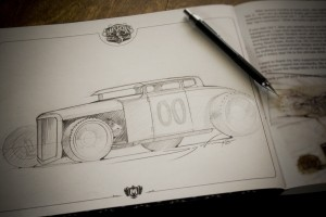 Hot Rod Book Sketch