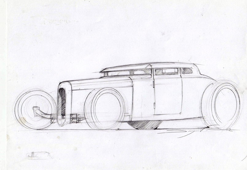 sketching cars   Masters of Chicken Scratch