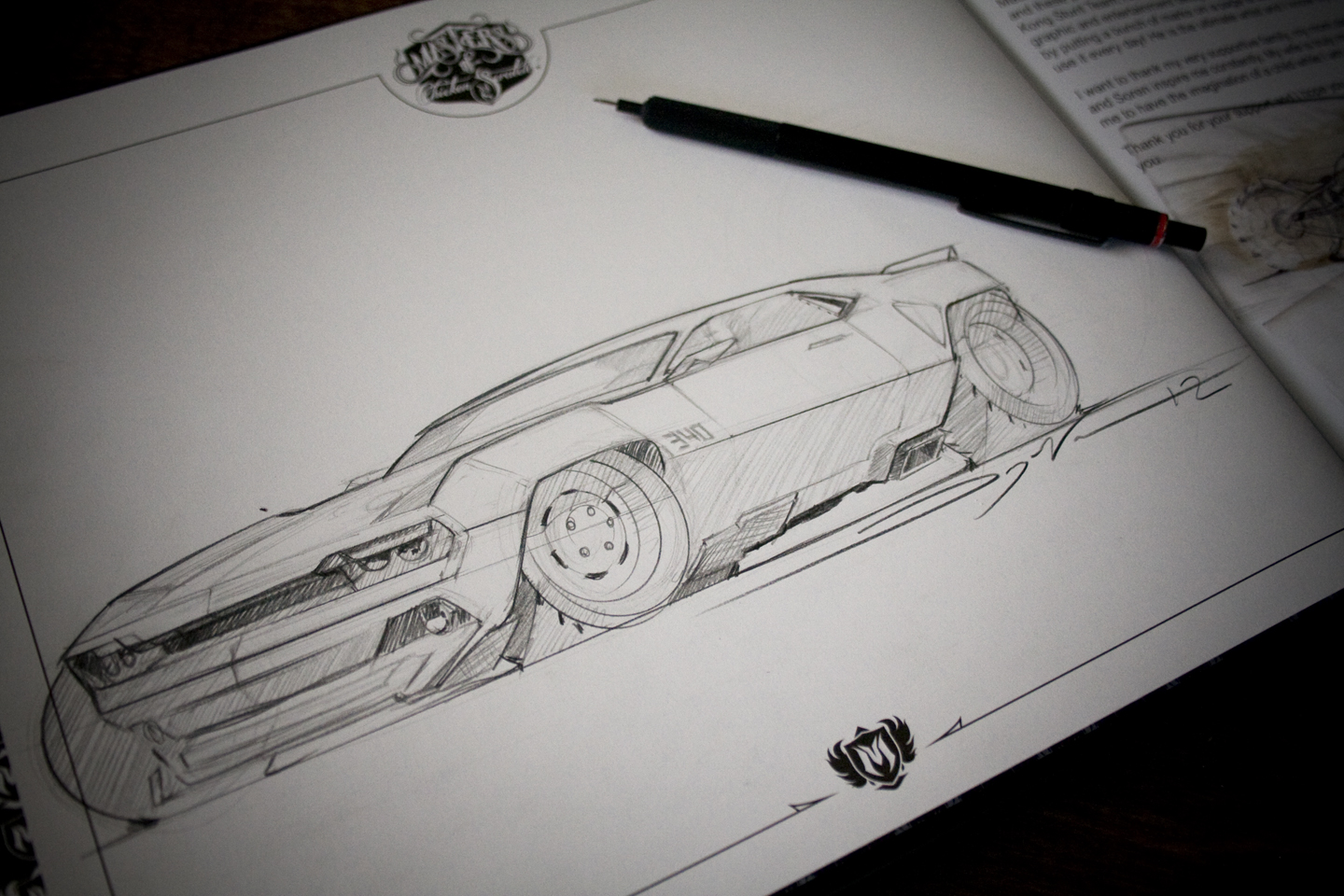 Automotive Sketching Masters Of Chicken Scratch